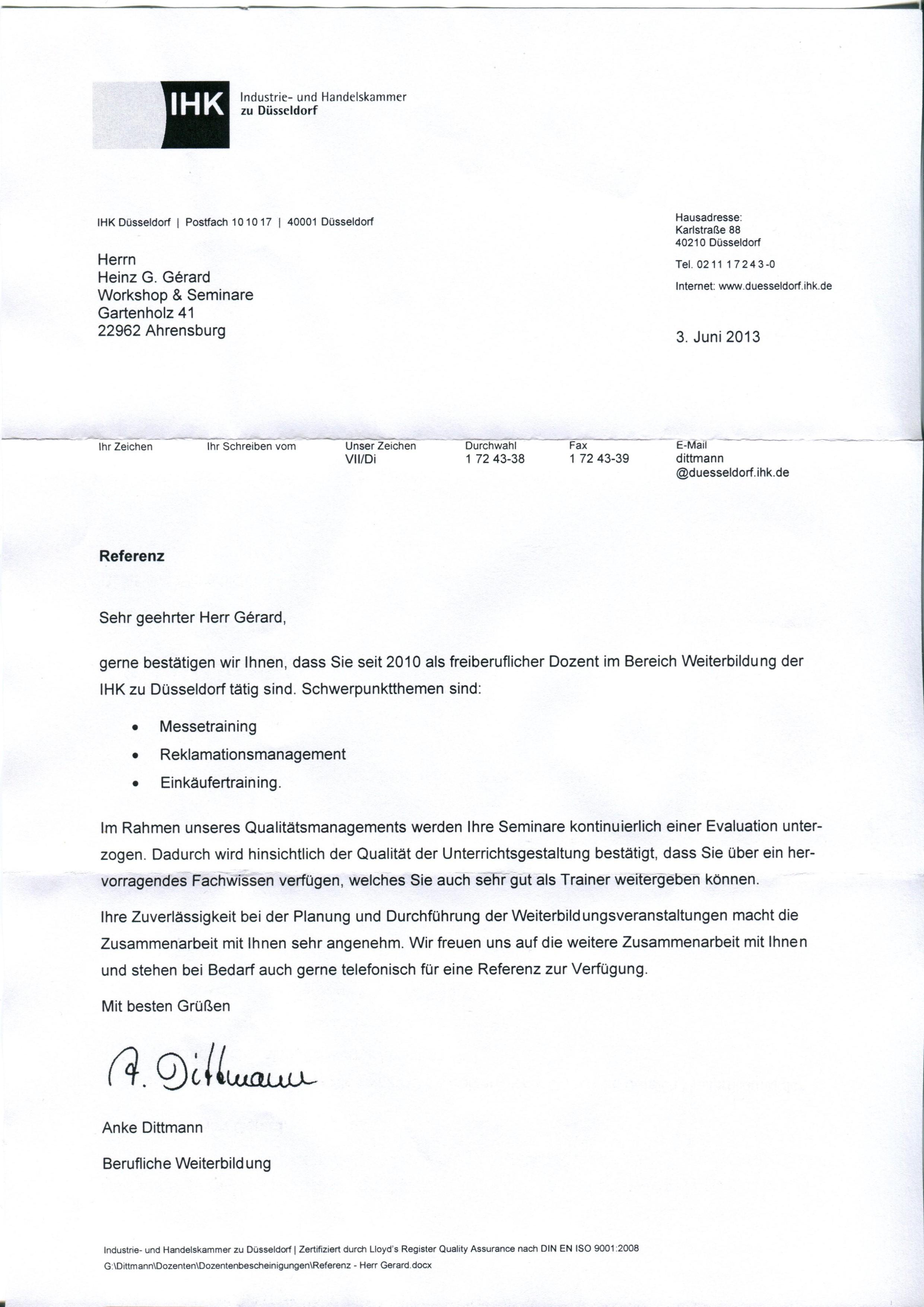 empfehlungsschreiben workshops seminare de - empfehlungsschreiben ...